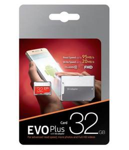 무료 DHL 2019 100 % 실제 32GB 64GB 128GB 마이크로 SD 메모리 카드 EVO 클래스 10 스마트 폰용 카메라 갤럭시 노트 7 8 SFREE