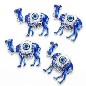 Şanslı Göz Deve Charms Mıknatıslar Damlama Yağ Alaşım Evil Eye Mücevher Çıkartması Duvar Çıkartma Odası Manyetik DIY Duvar Asma EY4736