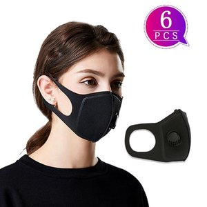 Toptan 6pcs Dusk Bezi Tek Koruyucu Maskeler Açık Sünger Yeniden kullanılabilir Sağlık Toz Maskesi