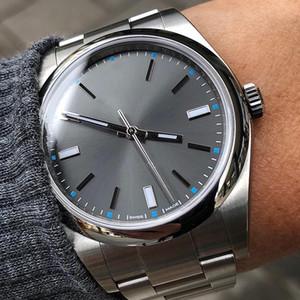 hommes de mode de luxe Non Date acier Domed lunette 114300 Mouvement automatique concepteur mécanique Hommes Montres-bracelets Montre homme