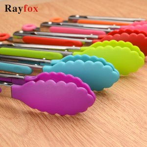 Kitchen Accessories Vegetable Cooking Salad Serving BBQ Tongs Stainless Steel Handle Barbecue Gadgets Clip Kitchen Utensil Tools