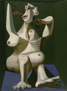 Pablo Picasso Mujer viste el pelo pintado a mano de la decoración del hogar impresión de HD pintura al óleo sobre lienzo arte de la pared de la lona representa 191110