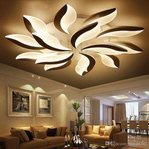 Luces de techo de diseño moderno de acrílico de LED para el Estudio de la sala de estar dormitorio Lampe plafond lámpara del techo interior avize