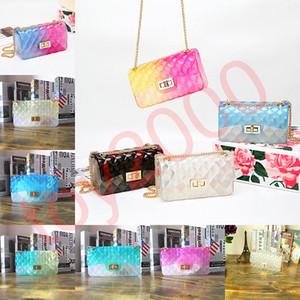 24 styles Clair Transparent Jelly Chaîne Sac À Bandoulière Matte bandoulière Sac À Main Messenger mode dame pochette bonbons couleur parti pack FFA2105