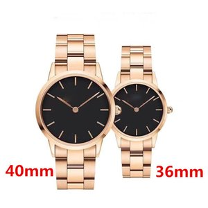 2020 luxury watch good quality Rose Gold watches men 40MM women 36MM unisex Stainless Steel Band Quartz Wristwatch Fashion casual watch