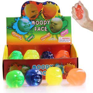 Kawaii Moody Face Squishy Toys Baby Pädagogische Neuheit Gadgets Menschliches Gesicht Ball Quetscht Dekompression Kinder Geschenke Squishies Stress Reliever
