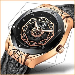 tevise fashion leisure Fully automatic spider pattern grain waterproof luminous Hollow out diamond rivet Pin buckle Mechanical watches