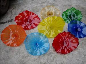 Hot Sale Style Hand Blown Glass Art Decoratiove Murano Glass Wall Plate New House Wall Decor