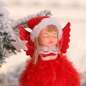 Новый год 2020 Последние рождественские ангелы девушки куклы Рождественская елка орнамент Noel Deco Новогоднее украшение для Home Navidad 2019 Kid дар