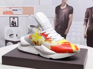 Erkek eğitmenler Y3 Koşu Ayakkabı Kaiwa Chunky Sneakers Kanye Erkek Kadın Casual Spor Outdoor Lüks Y3 Kusari II Leathe Boots Spor ayakkabılar a4