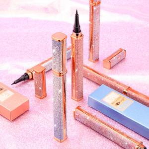 QIC Q616 Luxury Starry 36H Impermeable Duradero Secado rápido Delineador líquido Lápiz Black Eye Liner Lápiz Cosméticos para mujeres Belleza