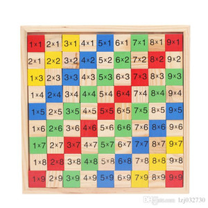 Multiplication Table Math Toys 10x10 Double Side Pattern Printed Board Colorful Wooden Figure Block Kids Novelty Items A049