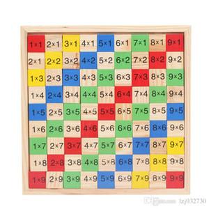 Patrón Tabla de multiplicación Matemáticas Juguetes 10x10 lateral doble placa de circuito impreso colorido Figura Bloque de madera de los niños de la novedad artículos A049