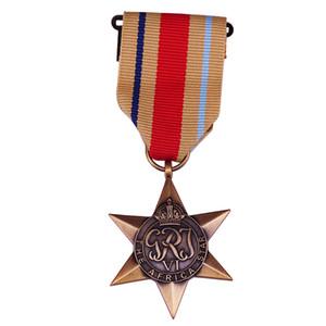 George VI L'Africa Star Brass Médaille Ruban Seconde Guerre mondiale du Commonwealth britannique de haute Collection Prix militaire