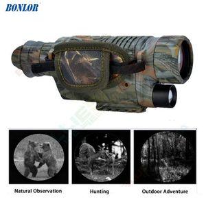 5X42 Digital Infrared Night-Vision Goggle Monocular 200M Faixa de vídeo do DVR Câmaras de imagens para a caça câmera do dispositivo (plug EUA) frete grátis