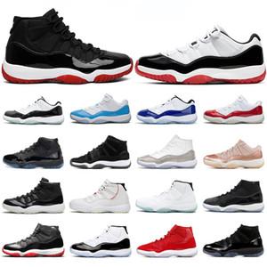 2020 nike air jordan retro أحذية الرجال النساء لكرة السلة 11S الجديد ازدحام الفضاء ولدت CAP وGOWN LEGEND الزرقاء الأزياء 11 رجلا الرياضية حذاء الرياضة