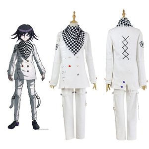 Anime Danganronpa V3 Ouma Kokichi Cosplay giapponese gioco School Uniform Suit OutfitMX190923