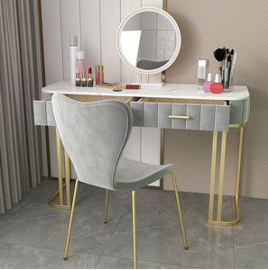 Lumière de luxe de style européen chambre table de toilette moderne haut de gamme minimaliste net ins rouge de style table de toilette al stockage nordique