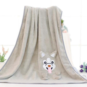 Blanket bonito dos desenhos animados do cão do bebê cobertores infantil Criança Velo Coral Cama recém-nascido de gavetas envoltório Kid Swaddling produtos de cuidado do bebê