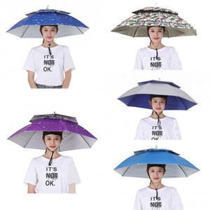 NEW 5 Styles Outdoor Fishing Cap Foldable Sun Umbrella Hat Golf Camping Hiking Headwear Cap Sunscreen Shade Head Hats Sports Cap 77cm