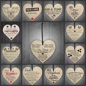 Weihnachtsschmuck aus Holz Plaque Herzform Letters multi Arten hängende Schlagwörter Hängen Weihnachtsbaum-Verzierung passende Innen Decor0 9JW E1