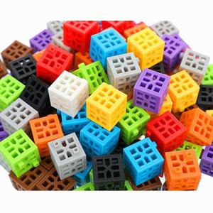 108 Adet Plastik Yapı Taşları Oluşturma Renkli Şekli Oyun Öğrenme Oyuncak