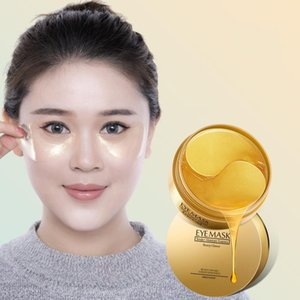 DHL 36pcs NEW HIISEES 30pair Gold Collagen Eye Mask Remove Dark Circles Whitening Firming Sleep Mask Moisturizing Eye Patches Skin Care