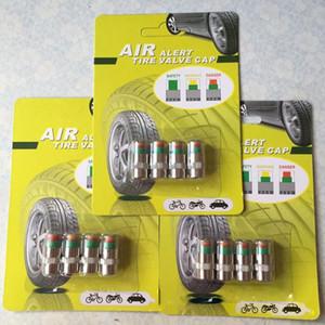 Tapas de Válvulas para el coche / antirrobo sensor de presión de neumáticos Indicador del monitor con hardware de latón macizo 3 Color alarma del ojo