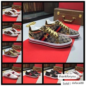 Designer ACE Sneakers Luxury embroidered white tiger bee Genuine Leather Sneaker Women Casual shoes