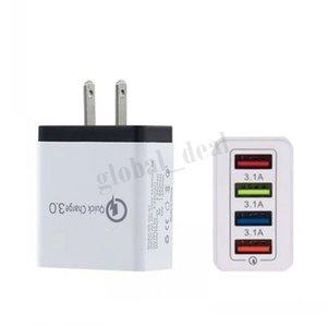 Красочный портативный 4 порта USB Quick Charge 3.0 зарядное устройство для путешествий Charing QC3. 0 настенное зарядное устройство US EU Plug