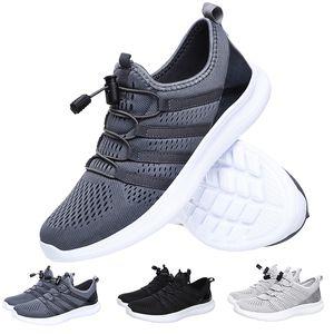 Expédition de baisse de haute qualité Chaussures de course pour homme femme noire gris marque maison formateurs coureurs de sport Made in taille de la Chine 39-44