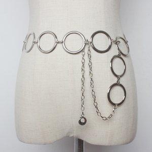 Large ring waist Women's decoration simple all-match Dress distribution distribution chain chain belt matching dress shirt metal belt