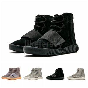 2019 Kanye West 750 koşucu Açık Kahverengi Gri Gum Üçlü Siyah Yüksek Erkekler Koşu Ayakkabı 750s Atletik Spor ayakkabı 36-46