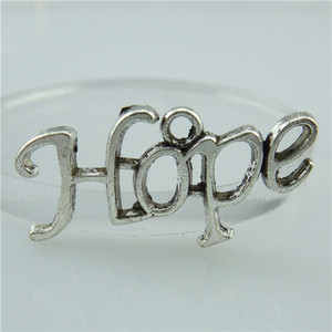 14054 40PCS Alloy Antique Silver Vintage Letter HOPE Blessing Pendant Charm Jewelry Fashion Jewelry Accessory DIY Part