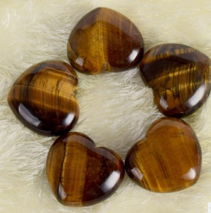 New arrival 25*25*10mm natural tiger eye stone heart Pendant stone ornaments Chiristmas gift