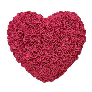 Heiße Verkauf 35cm Rosen Herz Künstliche Blumen Startseite Hochzeit Festival DIY Günstige Hochzeitsdekoration-Geschenk-Kasten-Kranz-Crafts-bestes Geschenk amazzz
