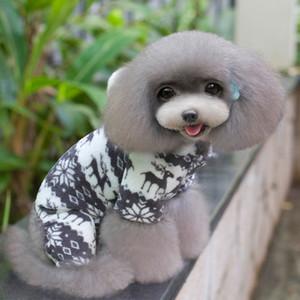 겨울 애완 동물 의류 개 옷 패션 애완 동물 강아지 따뜻한 산호 양털 옷 순록 눈송이 자 켓 작은 강아지 후드 코트 XXL DBC DH0984-2