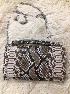 Реальный коровьей из натуральной кожи женщин Мешка Snake Python шаблон сумки Серпантин Дама плечо сумка Dropship