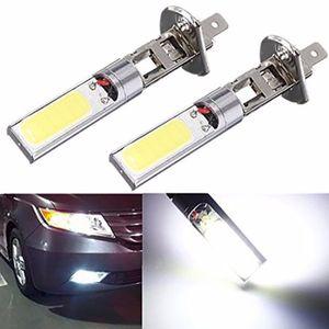 Yüksek Kaliteli 2x H1 12 V 10 W H1 COB LED Araba Sis Işık Ampüller 6000 K LED Oto Araba Sürüş Lambası H1 Için Çalışan Işıkları Oto