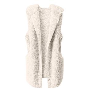 Stylish Bar 2019 donne autunno Aperto Stitch Outwear maglia di inverno caldo Hoodie del cardigan cappotto di pelliccia Zip Up Sherpa rivestimento di modo # 0524