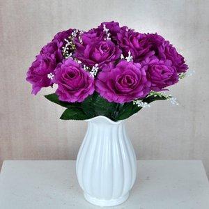 Искусственные Цветы 35 см Flannelette Rose Поддельные Цветы Растения для Дома Свадебные Украшения Цветы 7 Цветов Новый