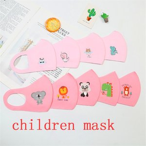 Diseñador anti-oscuridad máscaras protectoras de las muchachas de las máscaras de dibujos animados de la boca de la cara de los niños anti-polvo respirable Earloop reutilizable lavable de algodón de aire máscara