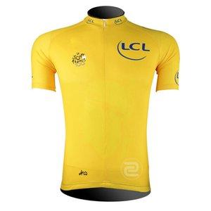 Мужская команда TOUR DE FRANCE велосипедный джерси только с коротким рукавом велосипедная рубашка лето быстросохнущая дышащая mtb велосипедные топы спортивная одежда Y073001