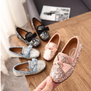 Neue Frühlings-Mädchen-Schuhe für Freizeitschuhe Mädchen-weiche Mode-Prinzessin Bow Sequin Kinder Bottom Flowers Princess