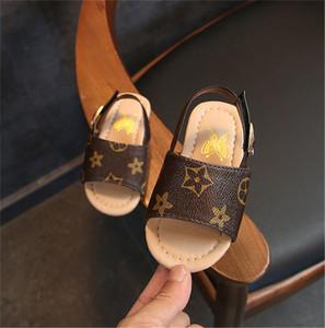 Chaussures d'été Designer Enfants Marque Sandales Filles Garçons en cuir PU Chaussons Floral Sandale Sneakers chaussures antidérapantes Sports Plage Bain Chaussures B6251