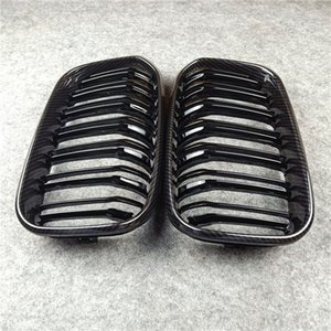 1 Pair Car Glossy black  M color Front Kidney Grille Dual slat Grille For F20 F21 LCI 2015-IN