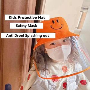 Maske toz geçirmez anti Drool Suya Dayanıklı Balıkçı Şapka Pamuk Havza Cap Çocuk Güvenliği Koruyucu HHA1175 ile Çocuk Koruma Şapka