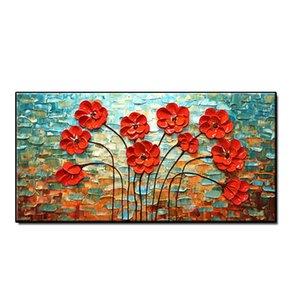 Handmade Faca Oil Flor Pintura Decor Artes da parede da casa arte da parede da lona Arte Unframed Artwork Paintings