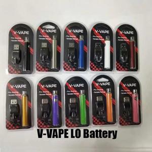 Горячая V-VAPE LO Разогреть VV батареи Kit 650mAh Переменный Напряжение батареи с USB зарядное устройство для 510 Thread густое масло Картридж Tank