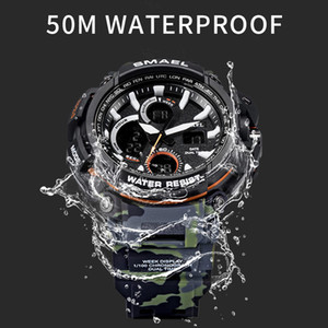 SMAEL 2020 Sport-Uhr-Mann-Uhr-wasserdichte LED-Digitaluhr Male Uhr Relogio Masculino erkek kol saati 1708B Herrenuhren